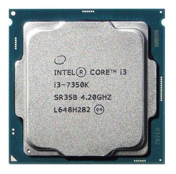 Processador gamer Intel Core i3-7350K BX80677I37350K de 2 núcleos e 4.2GHz de frequência com gráfica integrada