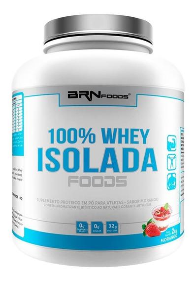 100% Whey Isolado 2kg Brn Foods