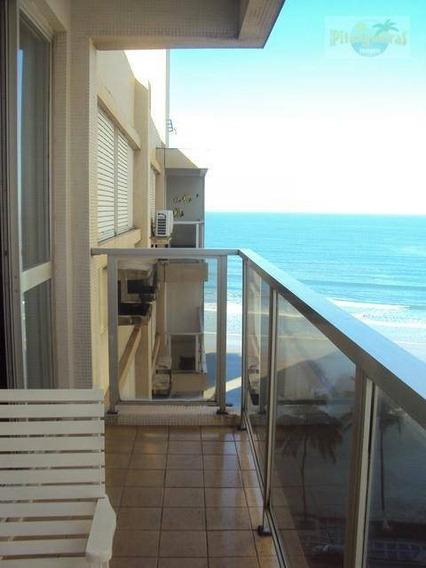 Praia De Astúrias Linda Vista Ao Mar,varanda, Prédio Frente Ao Mar, 123 M² Úteis, Garagem, Locação Anual E Venda!!! - Ap1299