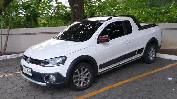 Volkswagen Saveiro 1.6 16v Cross Cab. Estendida Flex Branca