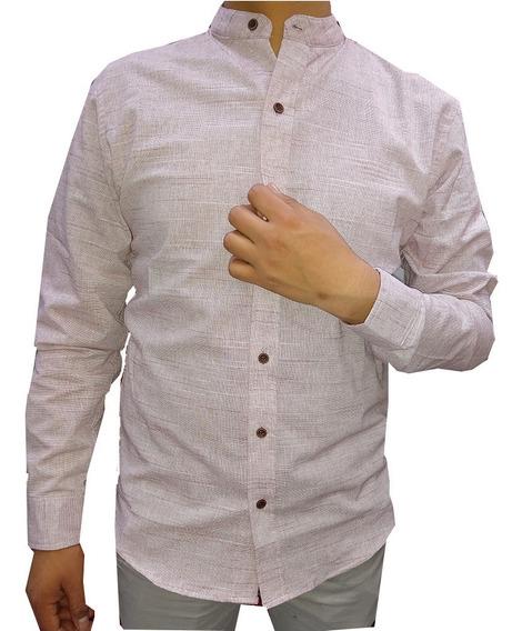 Camisa Cuello Mao Juvenil Caballero Hombre