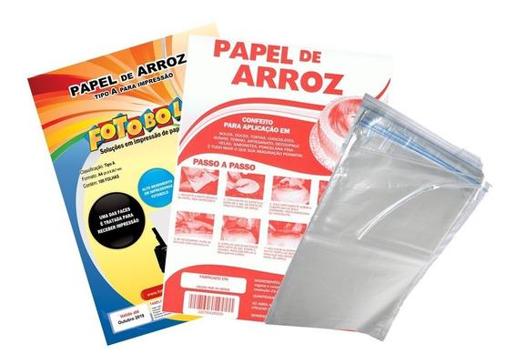 Kit Produção Papel Arroz Fotobolo A4 - Pct C/200 Folhas Cada