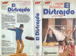 El Distraido Vhs Pierre Richard Le Distrait 1970