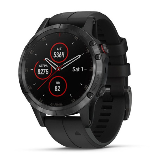 Relogio Garmin Fenix 5 Plus Safira Smartwatch Gps Monitor Cardíaco Corrida Preto Preto Novo Original