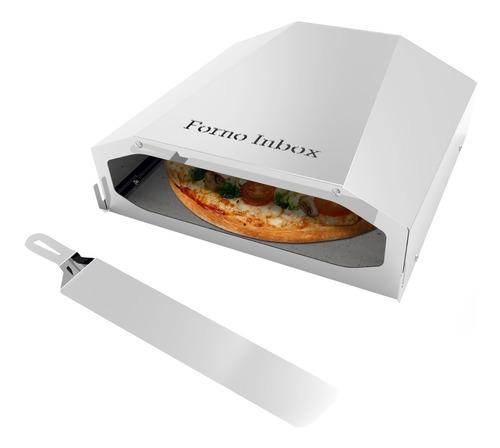 Forno De Pizza Para Churrasqueira Inox Pequeno