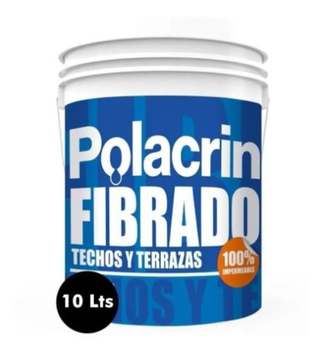Imagen 1 de 10 de Membrana Elastica Fibrado Pasta Techos Rojo Polacrin 10 Lts