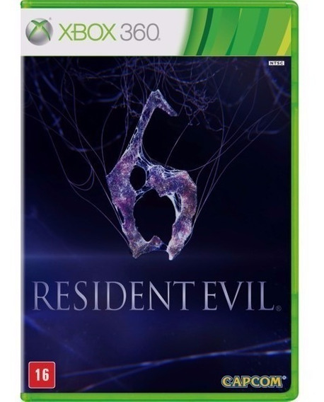 Jogo Resident Evil 6 Xbox 360 Mídia Física Original Novo