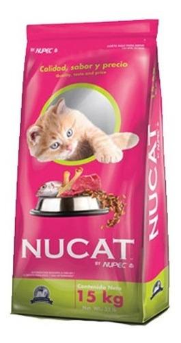 Imagen 1 de 1 de Nucat 15kg Croqueta Alimento Gato Todas Las Edades By Nupec