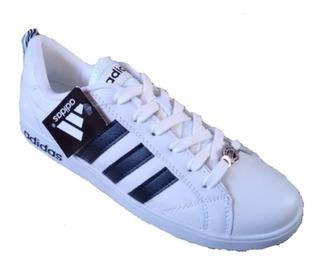 Correo Desigualdad tonto  Tenis Adidas Blancos Con Rayas Negras | MercadoLibre.com.mx