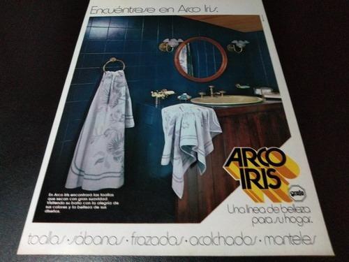 (pb499) Publicidad Clipping Ropa De Cama Arco Iris * 1983