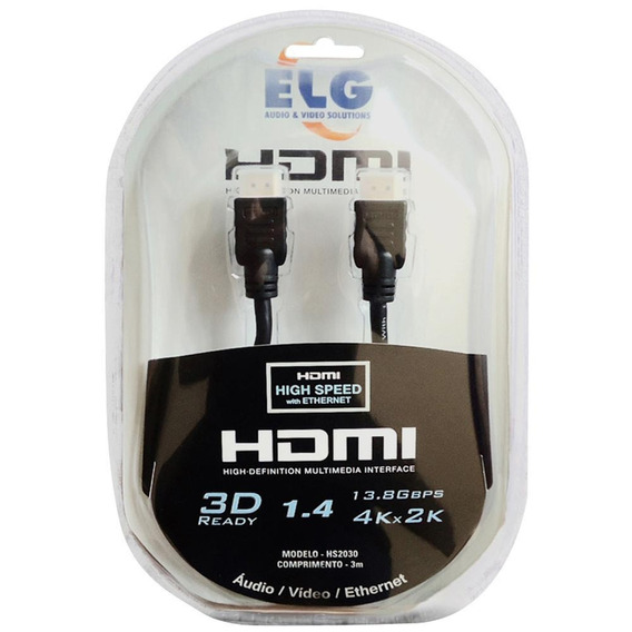 Cabo Hdmi ELG 3m Ref.:hs2030