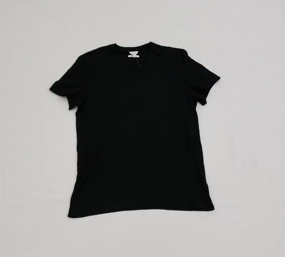 Playera Cuello V Calvin Klein Xgrande Slim Fit Negro