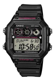 Reloj Hombre Casio Ae-1300wh-1a2 Negro Digital / Lhua Store