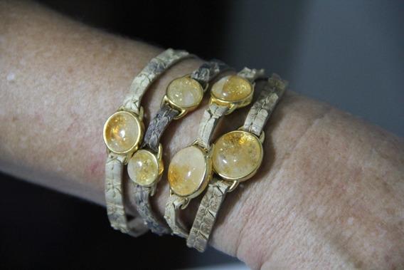 Bracelete De Imã Com Pedras