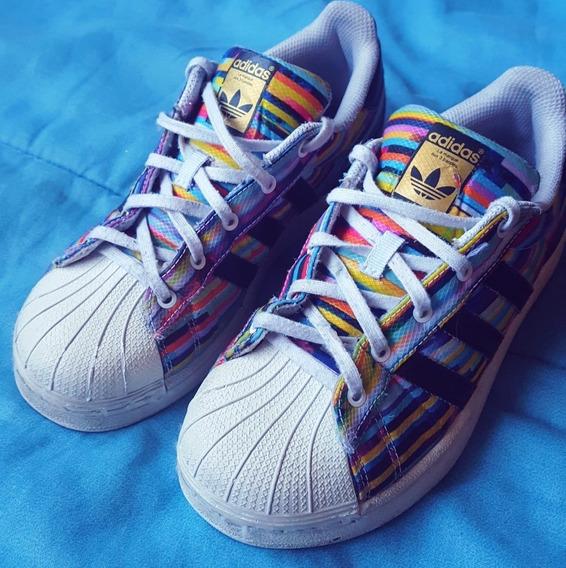 Zapatillas adidas Superstar Estampadas Originales Impecables
