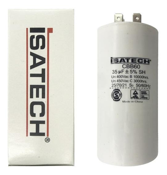 Capacitor Marcha 35uf Microfaradios 400 Vac 50/60hz Isatech