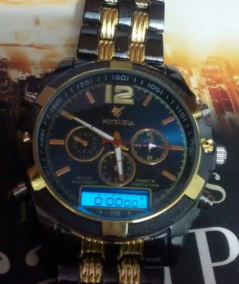 Relógio Digital E Analógico De Luxo Muito Lindo E Barato