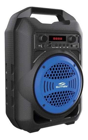 Caixa De Som Portátil Sumay 30w Rms Usb, Bluetooth, Rádio Fm