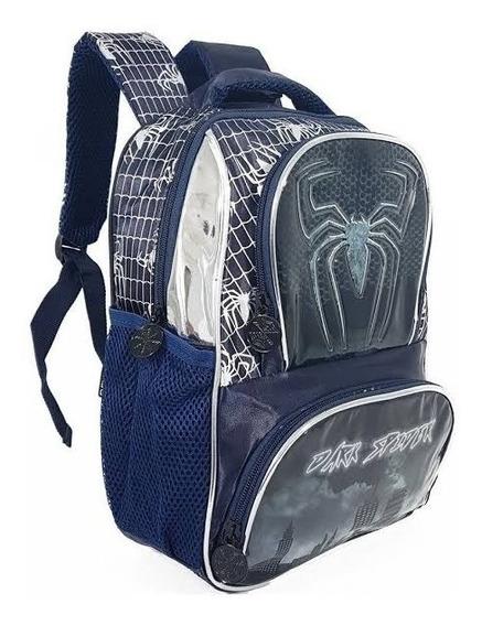 Mochila Escolar Infantil Grande Dark Spider Denlex Dl0353