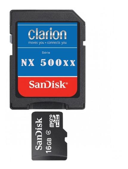 Atualização C/m Clarion Nx501ba Nx501bd 2018 + Cartão De 8gb