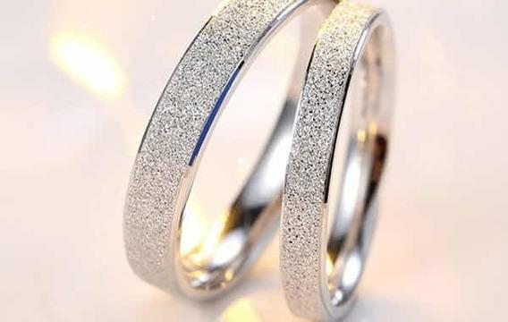 Par Aliança Prata 950 5mm Diamantada + Frete Grátis