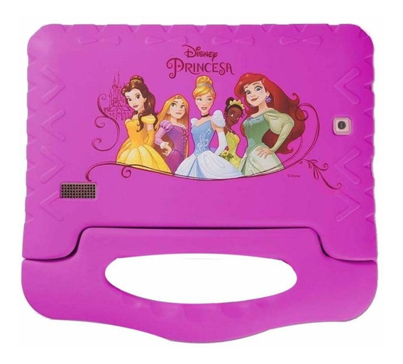 "Tablet Multilaser Disney Princesas 7"" 8GB rosa com memória RAM 1GB"
