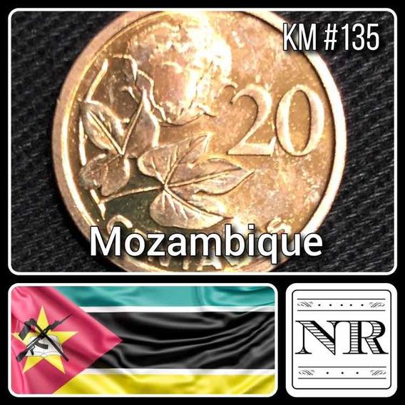 Mozambique - 20 Centavos - Año 2006 - Km # 135 - Planta Algodon