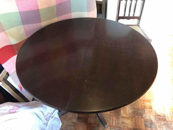 Lindo Jogo De Mesa E 4 Cadeiras (madeira Maciça)