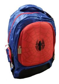 Mochila Escolar Spiderman Reforzada Primaria Azul