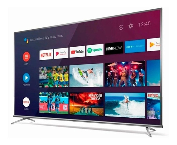 Smart Tv Led 4k Uhd 65 Tcl 65p8m Preta Bivolt Pix90