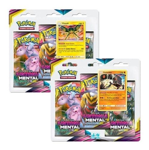 Pokémon Triple Pack Sintonia Mental Stakataka + Vikavolt