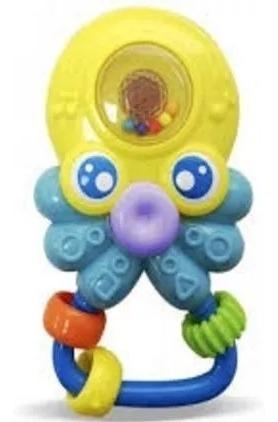 Amigo Chocalho Do Mar Mordedor Som E Luz Polvo - Zoop Toys