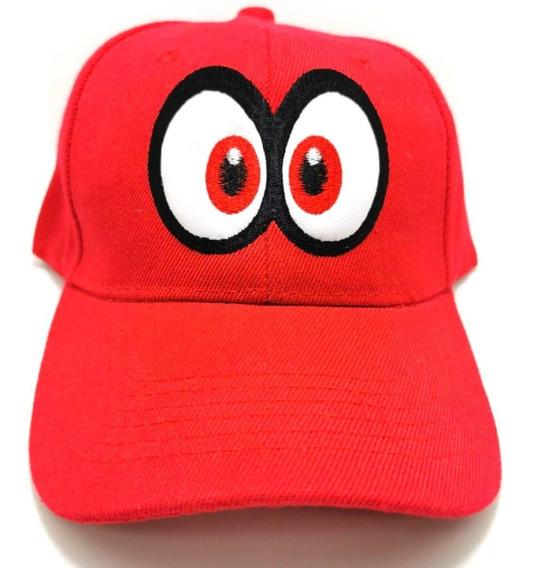 Gorra Odyssey Cappy Mario Bros Para Niños Luigi Ojos Bordado