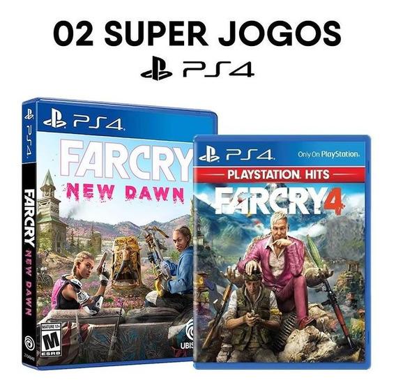 Far Cry New Dawn + Far Cry 4 - Ps4 - Mídias Físicas Lacrados