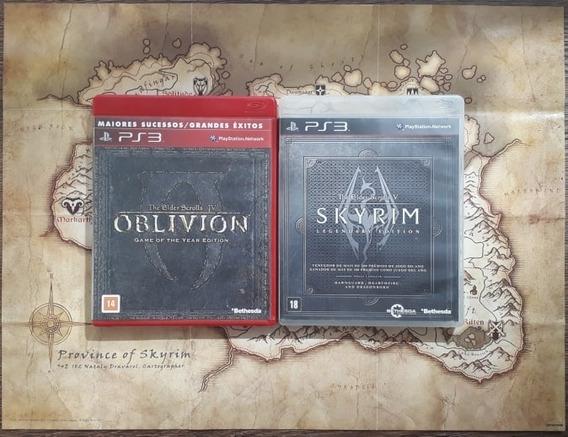 The Elder Scrolls(v Skyrim Legendary + Iv Oblivion Goty) Ps3