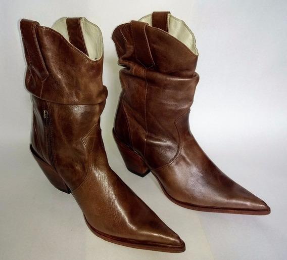Bota Texana Feminina - Bico Fino - Goyazes - Núm. 37