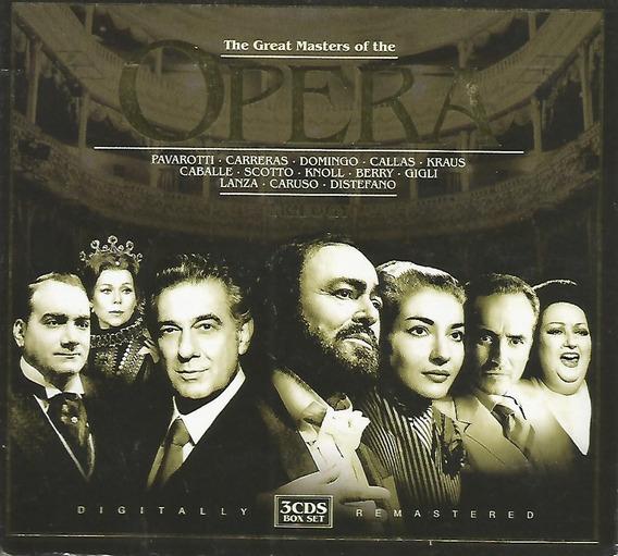 Box- The Great Masters Of The Opera- Pavarotti Caruso Triplo
