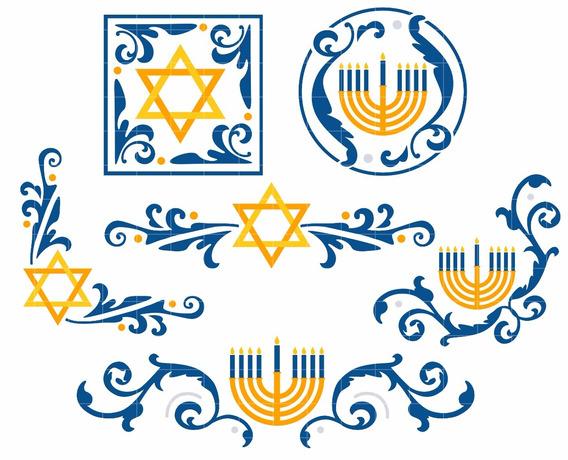 Kit De Imágenes Digitales Hanukkah Año Judio