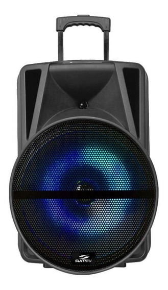 Caixa De Som Sumay 500w Bluetooth 1 Microfone Sm-cap16p