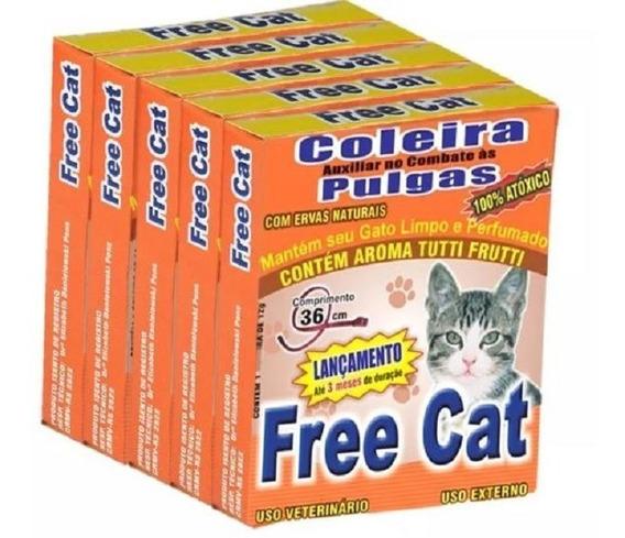 5 Coleira Anti Pulgas Para Cachorro Ou Gatos Atacado Petshop