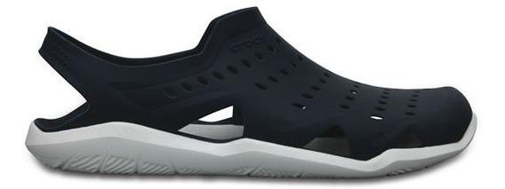Zapato Crocs Caballero Swiftwater Wave M Azul Marino/blanco