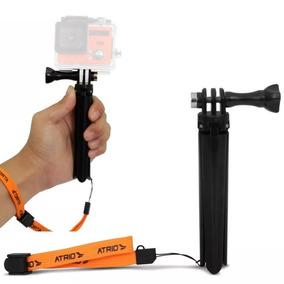 Tripé Grip Mão 2 Em 1 Atrio Action Câmera Profissional