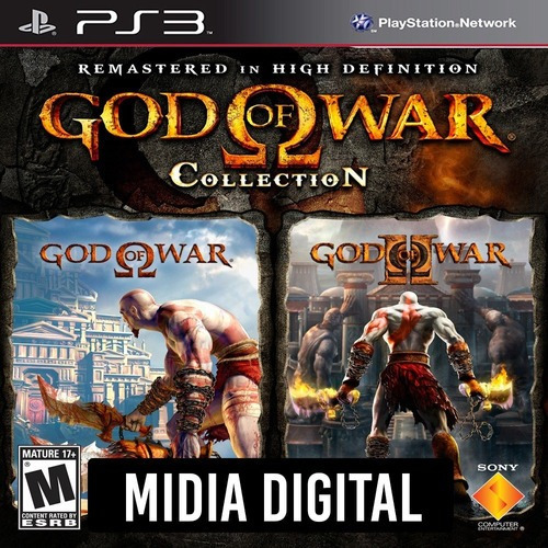 God Of War Collection 1 E 2 Em Hd - Ps3 Psn*