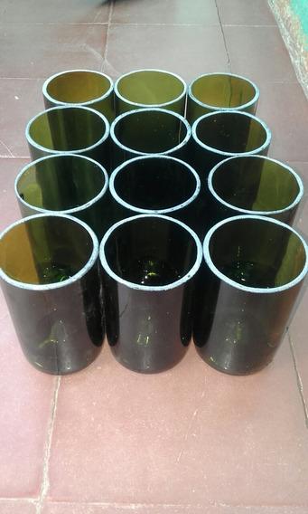 Vasos Cortados Artesanales X 12 Unidades