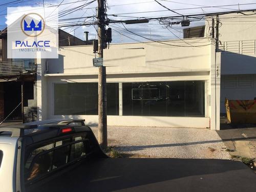 Salão Para Alugar, 300 M² Por R$ 9.000/mês - Paulista - Piracicaba/sp - Sl0152