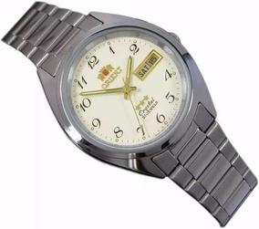 Relógio Orient Automatico Classico Masculino Aço Branco