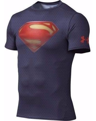 Playera Licra Superman Under Armour Liga De La Justicia
