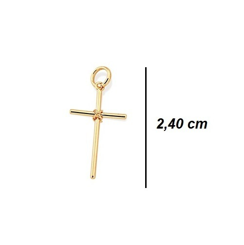 Pingente Rommanel Crucifixo 2,4 Cm Banhado Ouro - Original