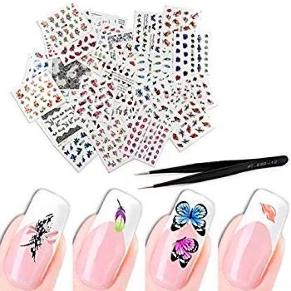 Stickers Surtidos Para Uñas 800 Stickers Nail Art Pack