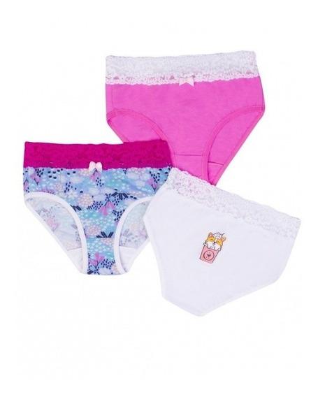 ¡oferta! 23885 Pack 3 Panties Niña Marca Ilusion Original
